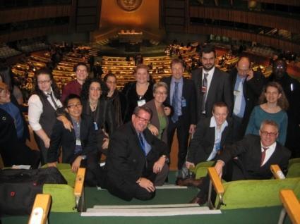 Ativistas acompanharam as negociações no plenário da Assembleia Geral da Onu, em dezembro de 2008
